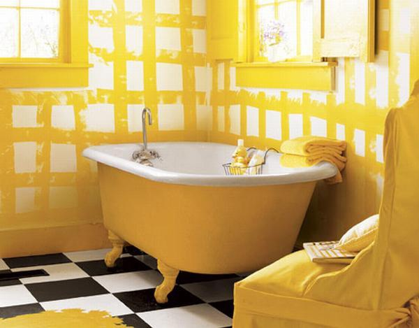 Beautiful yellow bathroom designs (9)