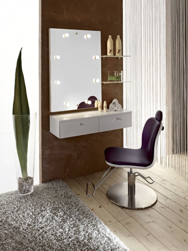 Bedroom vanities simple dressing tables adorable home for Coiffeuse avec miroir pas cher