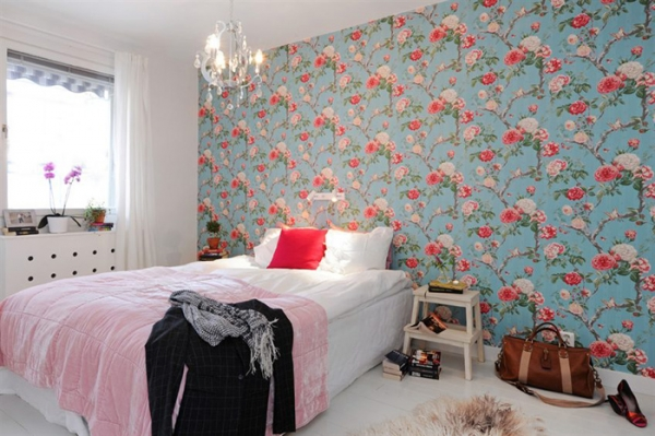 Bedroom wallpaper ideas adorable home for Bright bedroom wallpaper