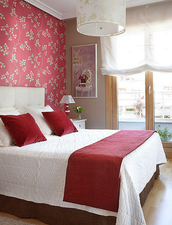 Bedroom wallpaper ideas adorable home for Bedroom designs with wallpaper