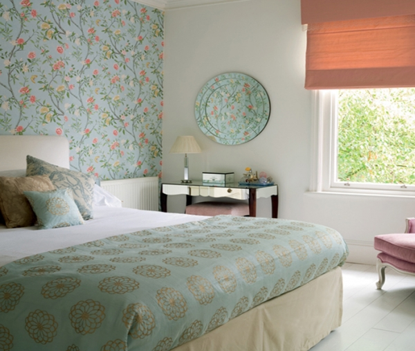 Bedroom wallpaper ideas photo collection adorable home for Feature wallpaper bedroom ideas