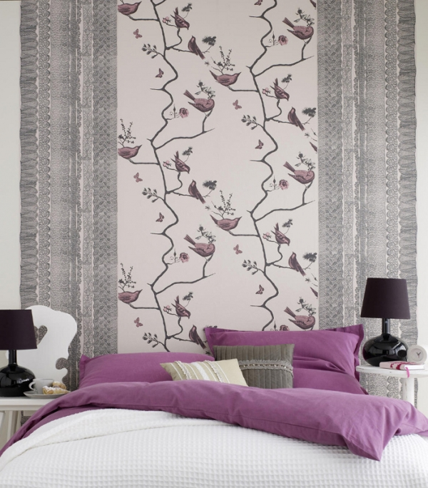 Bedroom wallpaper ideas photo collection adorable home for Different wallpapers for walls
