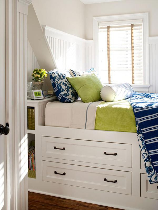 Big ideas for small bedrooms adorable home - Storage solution for small bedroom ...