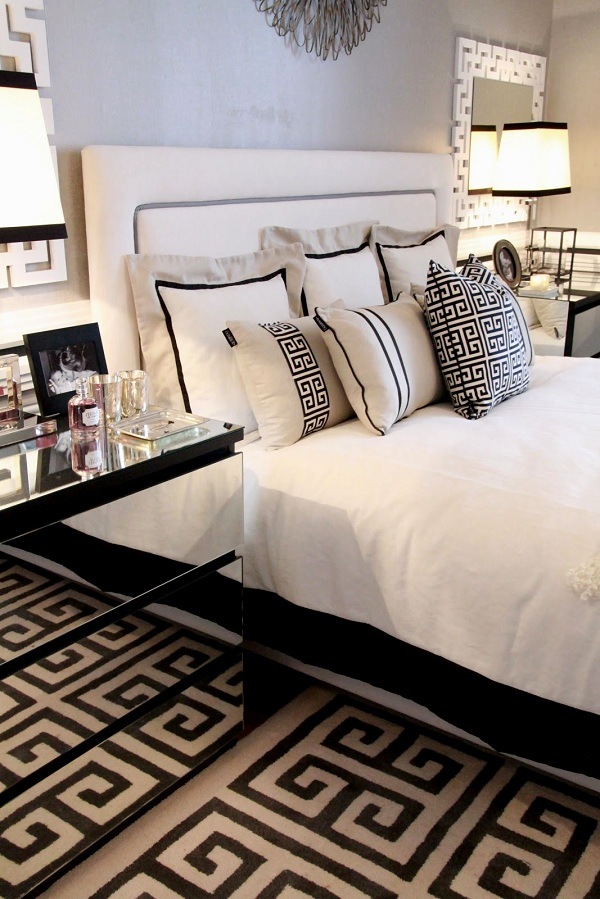 Black and white bedroom design adorable home Black and white room decor
