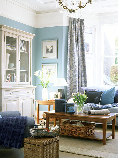 White Living Room Decor Ideas: Blue In The Living Room
