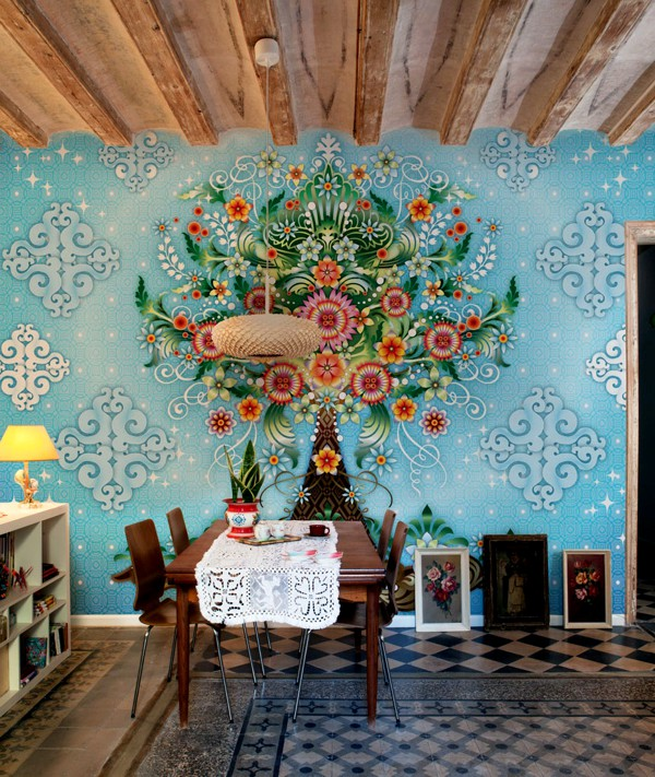 Bold And Colorful Wallpaper Designs Adorable Home