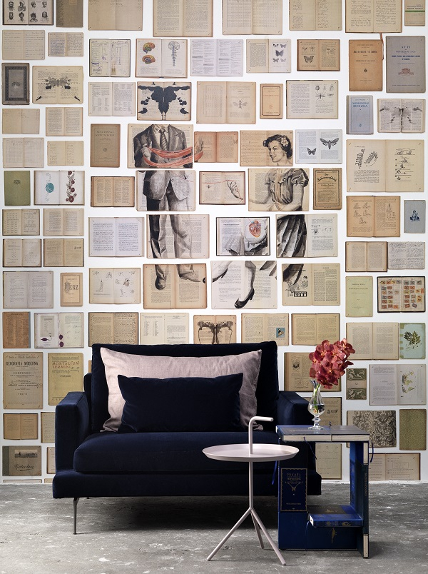 Bookish indulgence: the Biblioteca wallpaper collection