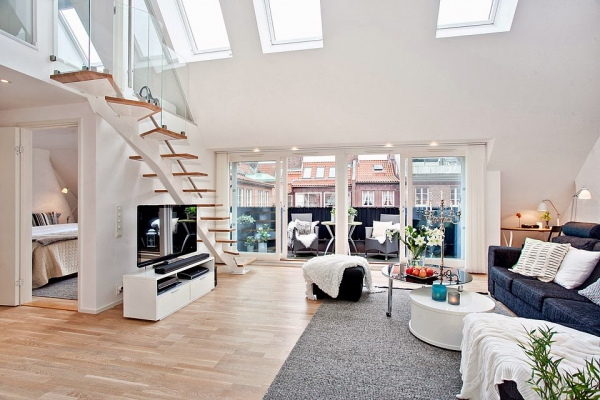 bright-loft-in-sweden-with-beautiful-features-1