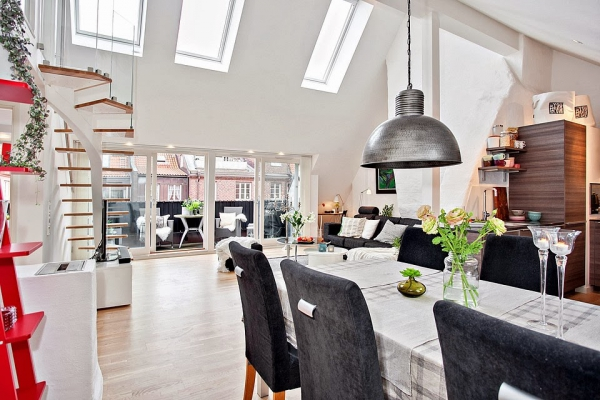 bright-loft-in-sweden-with-beautiful-features-3