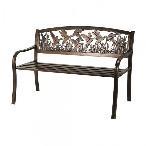 Iron patio bench waymar wrought iron outdoor patio bench rb 830 Wrought iron outdoor bench