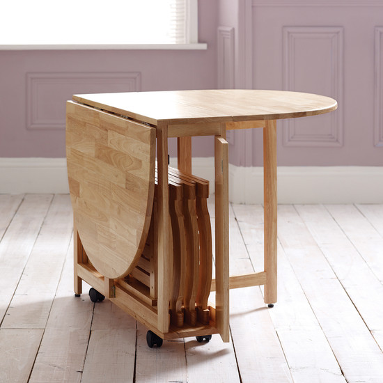 Choose a folding dining table for your small space adorable home - Furniture for small spaces uk model ...