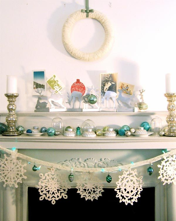 Christmas Home Decoration in Blue Adorable Home