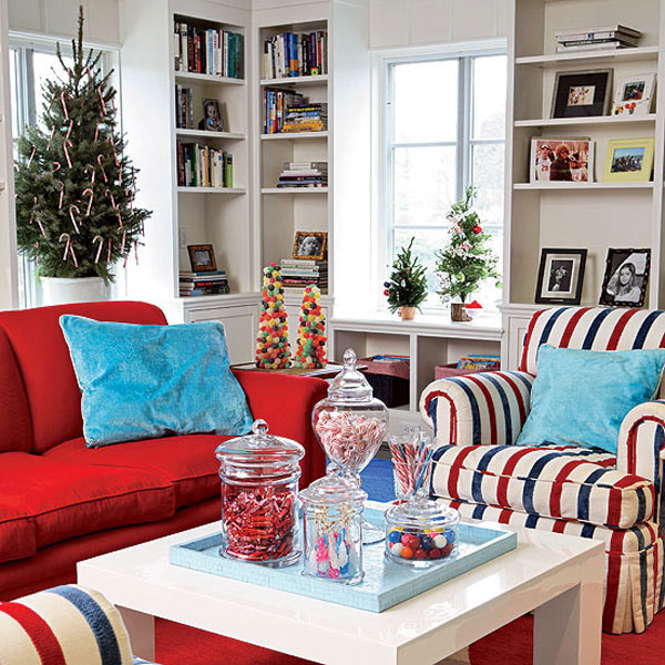 Delightful Christmas Home Decoration In Blue Adorable