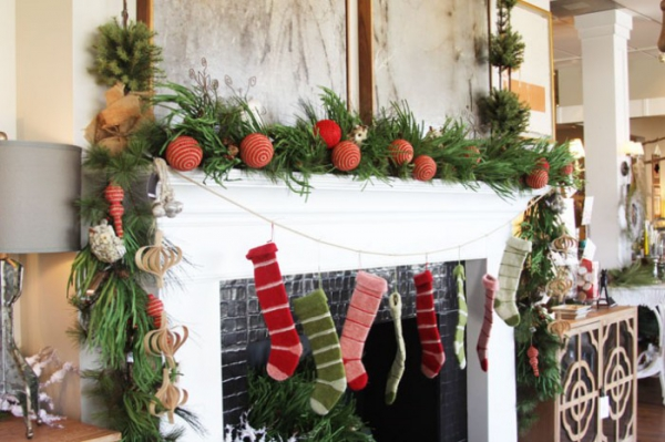 Christmas Mantelpiece Decorating Ideas Adorable Home