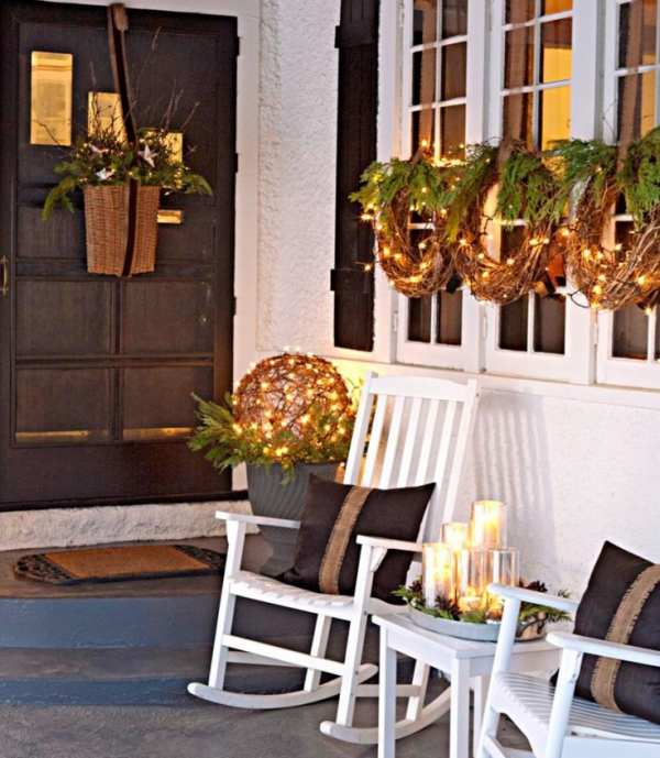 Ideas For Decoration: Christmas Porch And Front Door Decorating Ideas
