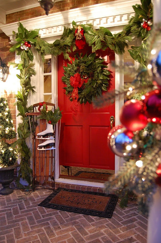 Christmas Porch and Front Door Decorating Ideas - Adorable ...