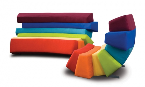 Colorful Furniture With All The Colors Of The Rainbow