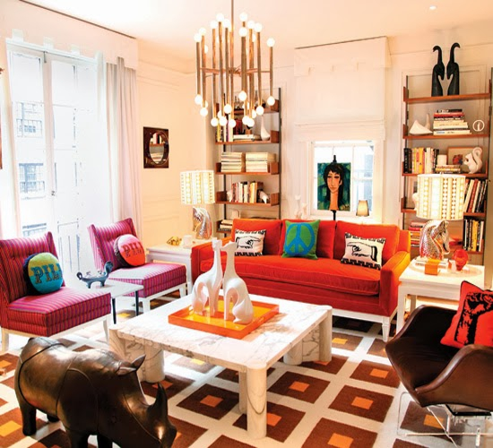 Home Decoration And Furnishing Articles Couple Characters: Colorful Interiors By Jonathan Adler