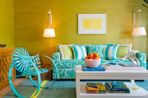 colorful living room designs 1 - Colorful Living Room