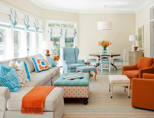 colorful living room designs 18 - Colorful Living Room