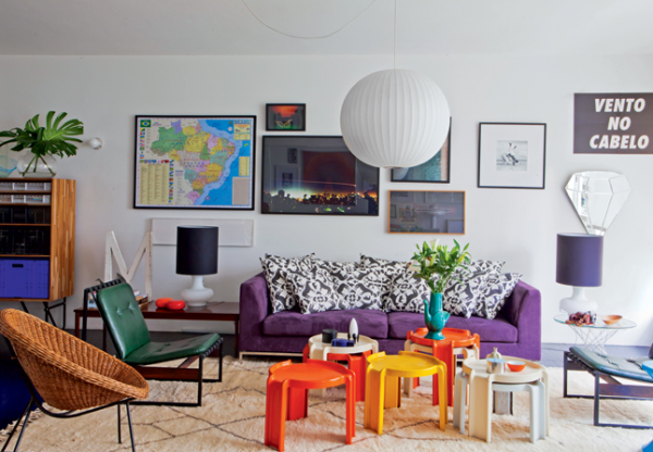 colorful living room inspiration 1 - Colorful Living Room