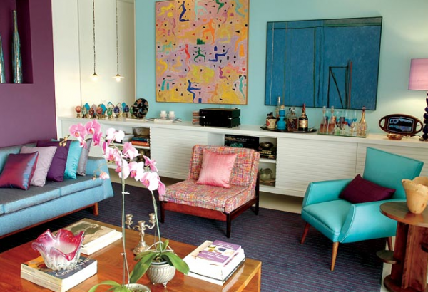 Colorful living room inspirations