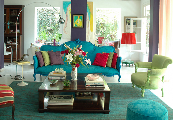 Colorful Living Room Inspirations 12