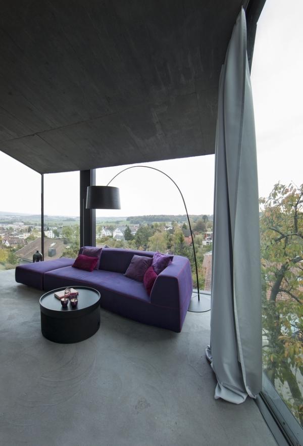 Concrete ideas and contemporary purple interiors (15)