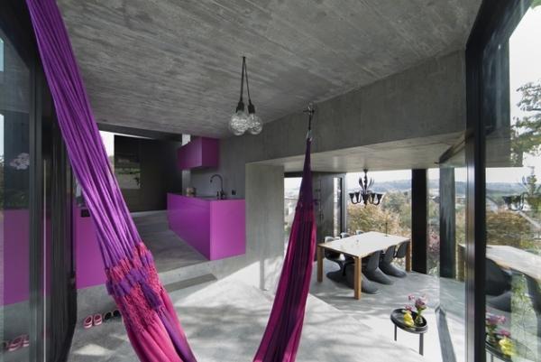 Concrete ideas and contemporary purple interiors (7)