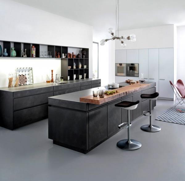 Minimalist kitchen design from leicht adorable home for Minimalist kitchen designs