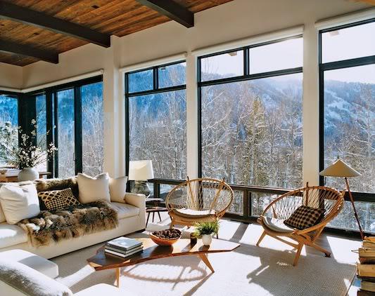 Contemporary aspen ski lodge - Maison edge aspen studio b ...