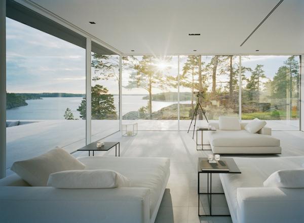 Contemporary glass homes