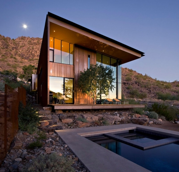 Contemporary Luxury Surrounded By A Rocky Desert Landscape