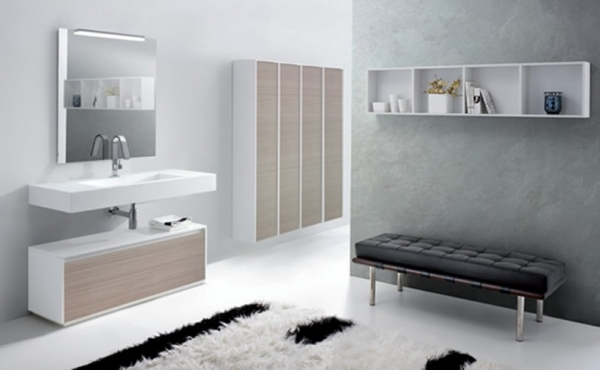 Modern Minimalist Bathroom In Red And White Modern Minimalist – Minimalist Bathrooms