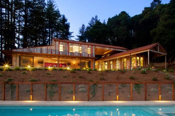 contemporary rustic house in the santa cruz mountains 1 - Contemporary Rustic Homes
