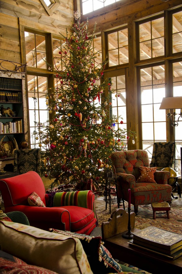 Decorate Living Room Ideas: Country Christmas Decor