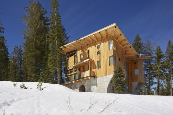 Crows Nest A Modern Wooden House In The Sugar Bowl Ski