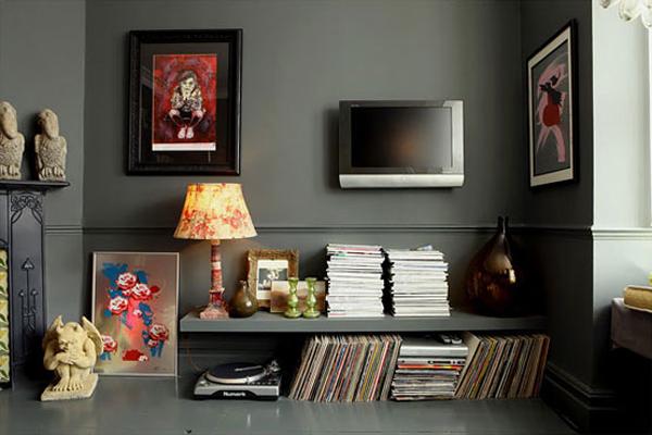 dark living room ideas. dark shades in the living room 1 Dark Shades The Living Room  Adorable Home