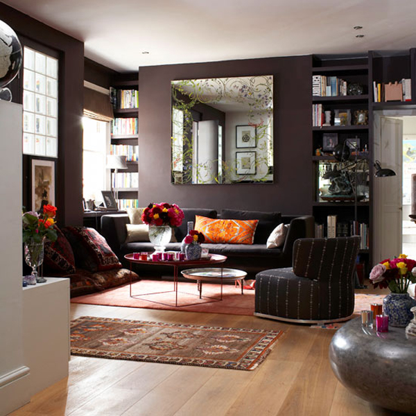Dark Color Living Room Ideas | www.elderbranch.com