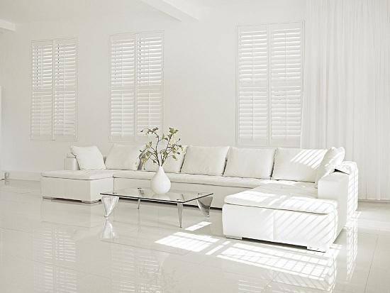 Dazzling White Interior Adorable Home