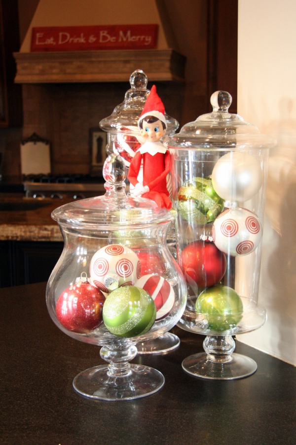 Big glass jars for christmas decorating ideas