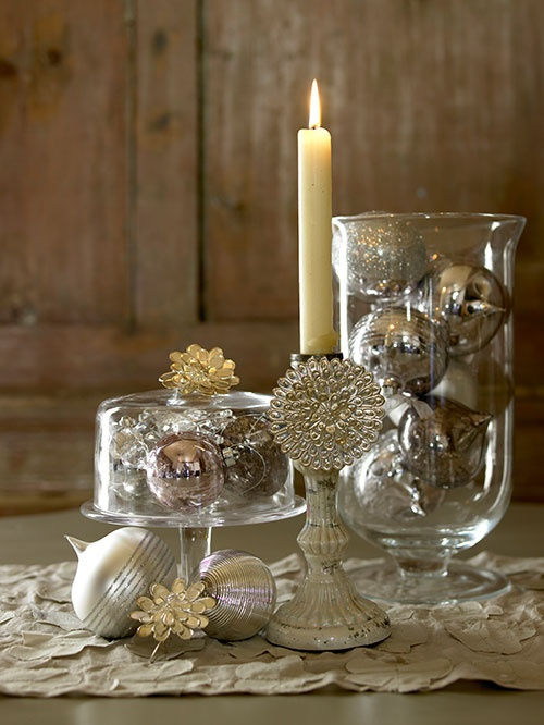 Christmas Decorating Ideas For Glass Jars : Decorating with christmas glass jars adorable home