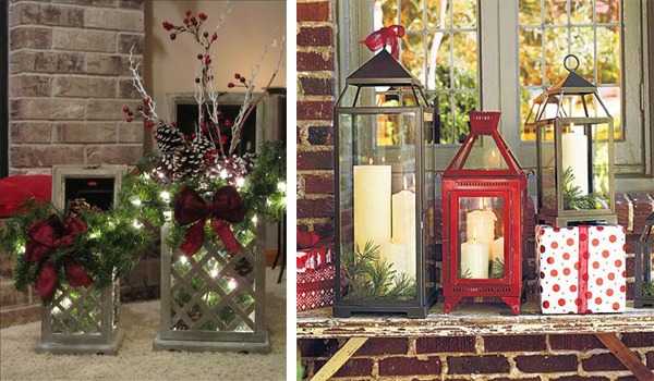 Decorating With Christmas Lanterns 1