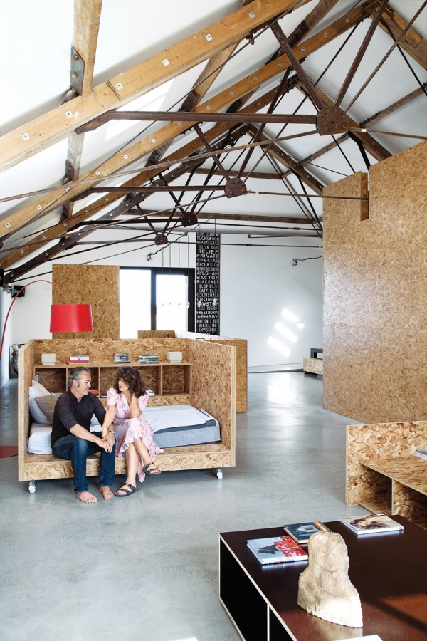 Decorating with osb furniture adorable home for Interieur osb