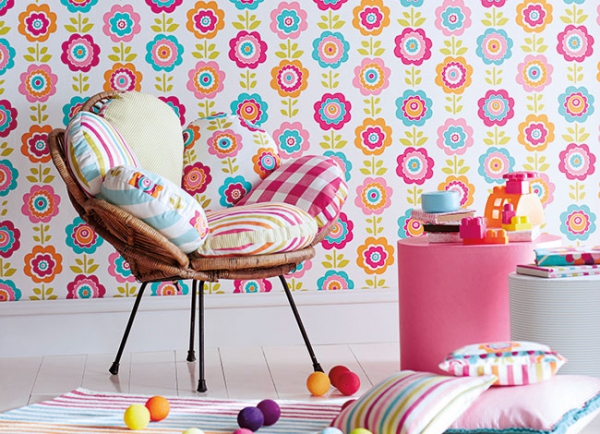 Decorating your kid s room with wallpapers adorable home for Wallpaper for kids rooms