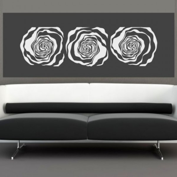 Flower & Floral wall stickers - 3 roses