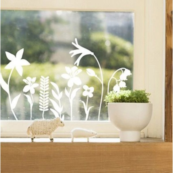 Flower & Floral wall stickers - field flowers