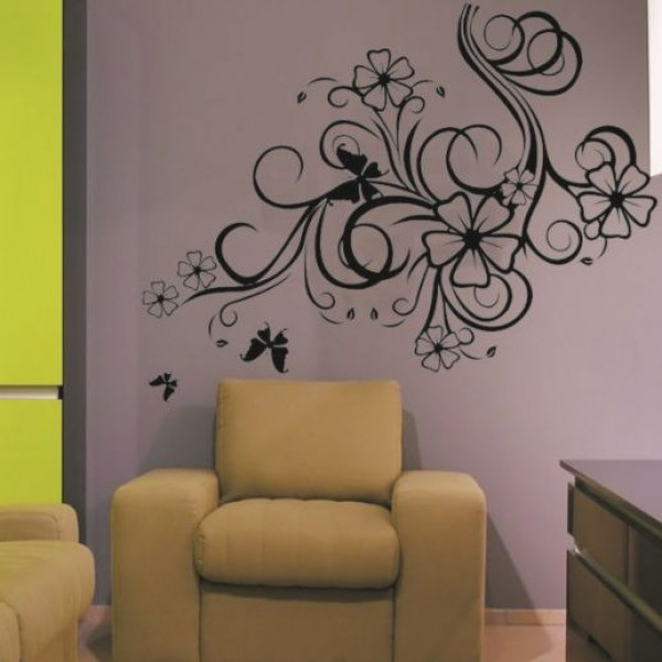 Flower & Floral wall stickers - luxurious flowers