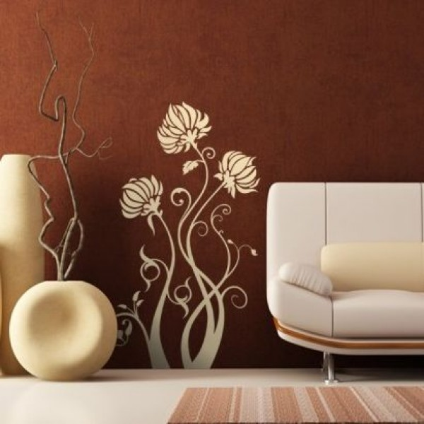 Flower & Floral wall stickers - chrysanthemum