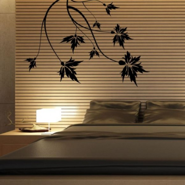 Flower & Floral wall stickers - maple leaves